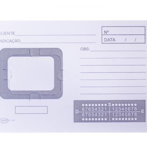 Cartão de Raio-X Com 01 Furo P-05