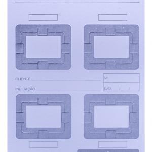 Cartão Raio-X Com 04 Furos P-08